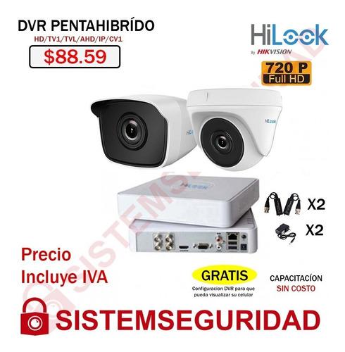 Imagen 1 de 10 de Kit 2 6 8 16 Camaras Seguridad Cctv Hd 720p  1080p Hilook