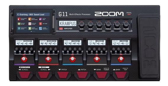 Pedaleira Zoom G11 Multiefeitos Para Guitarra Nfe + Garantia