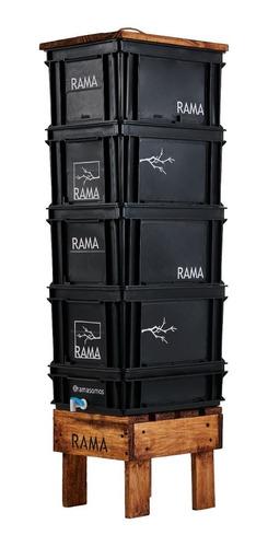 Imagen 1 de 5 de Compostera Rama Somos Balcón 80 L Canilla Lombrices Manual