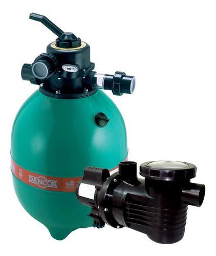 Imagem 1 de 6 de Filtro Dfr 15 Dancor Com Moto Bomba 1/2 Cv Para Piscinas