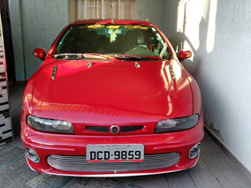Fiat Brava Sx 2002 Vermelho, Completo.
