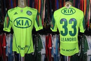 Palmeiras 2012 Camisa Reserva Tamanho M Número 33 Leandro.
