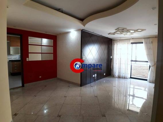 Apartamento Para Alugar, 84 M² Por R$ 1.600,00/mês - Vila Rosália - Guarulhos/sp - Ap2445