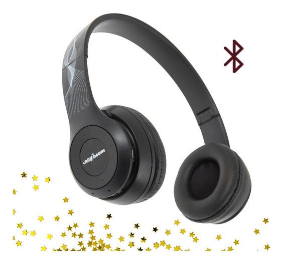 Head Phone Fone Bluetooth Chilli Beans Rádio Mp3 Cartão M.sd