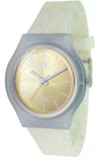 Reloj Xl Cod Xl-711 Glitter Elegi Color Malla Silicona