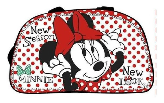 Bolso Disney Oval Mickey Minnie Playeros