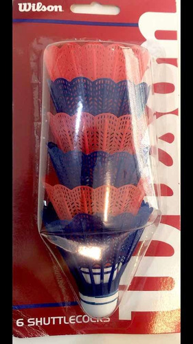 Imagen 1 de 1 de Pelotas Bádminton Plasticas Wilson 6 Pza Co10