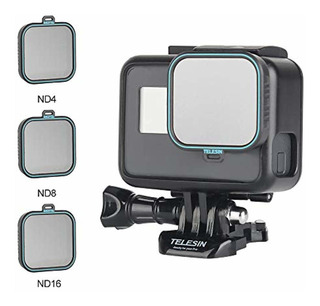 Telesin Gopro Lens Filter -3pack Nd4 ,nd8