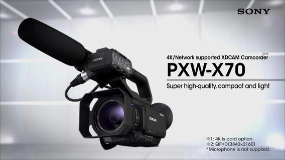 Filmadora Sony Pxw-x70 + Microfone Boom Profissiona