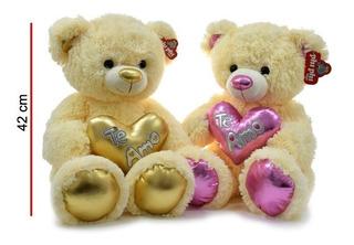Peluche Oso Mediano Corazón 44 Cm Phiphi Toys Sertoys