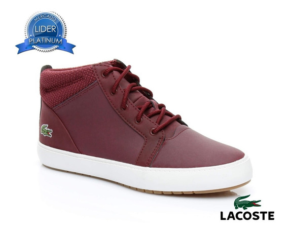 Zapatillas Lacoste Ampthill 318 Bordo 3c9 Mujer Original