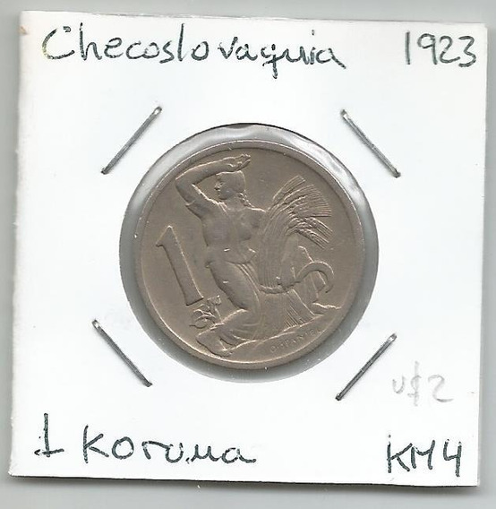 M155 Checoslovaquia Moneda 1 Koruna 1923 Km# 4