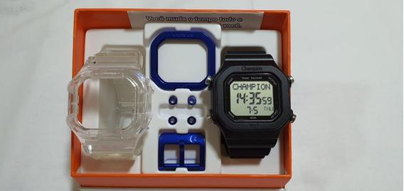 Relógio Champion Yot Troca Pulseiras Original N.f Frete Grat