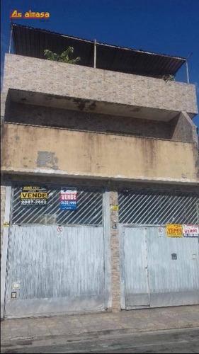 Sobrado Com 6 Dormitórios À Venda, 246 M² Por R$ 1.000.000,00 - Jardim Vila Galvão - Guarulhos/sp - So0210