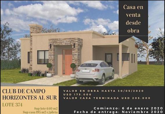 Venta Casa A Estrenar 4 Ambientes - Club De Campo Horizontes Al Sur - Canning