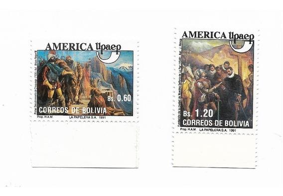 Estampillas Bolivia Año 1991 Eventos Históricos Upaep Mint