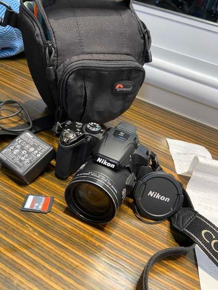 Camera Nikon Coolpix P510 Com Todos Os Acessórios Originais.