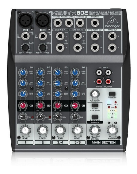 Mezcladora Mixer Behringer Xenyx 802 + Garantía