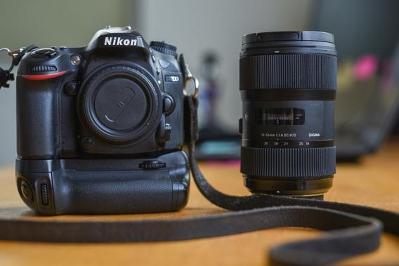 Câmera Nikon D7200 + Lente Sigma 18-35mm 1.8