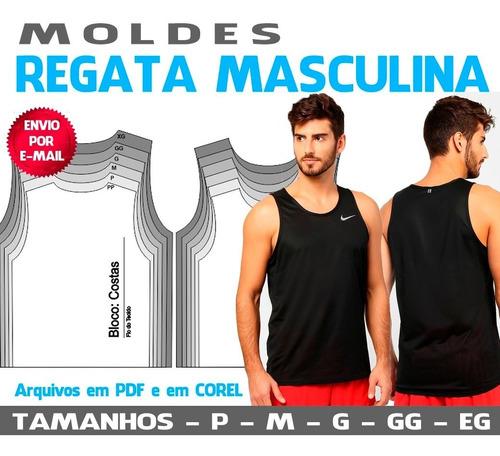 Regatas Masculinas Moldes - Pp, P, M, G, Gg E Eg