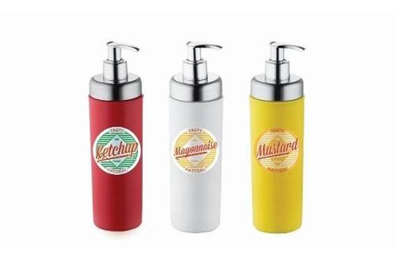 Conjunto Dispenser Mostarda/ketchup/maionese Molhos Mesa