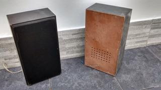 Parlantes Con Caja De Madera Vintage Funcionando!!!