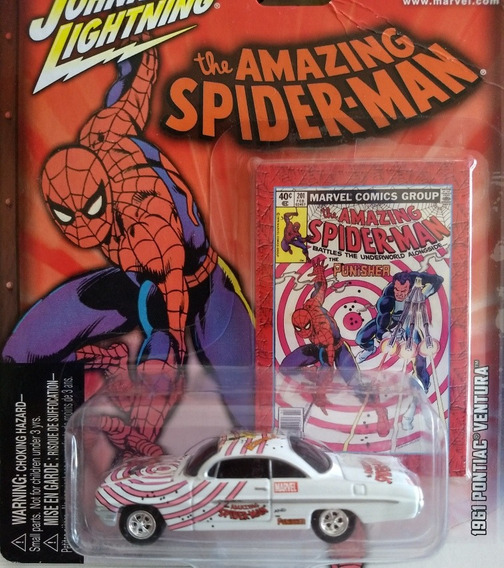 Auto Johnny Lightning 1961 Pontiac Ventura Spiderman Rdf1