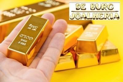 Barra De Ouro 18k 0,10g (dez Décimos) 12x Sem Juros - Novo