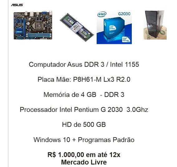 Computador Asus Ddr3 / Intel S. 1155