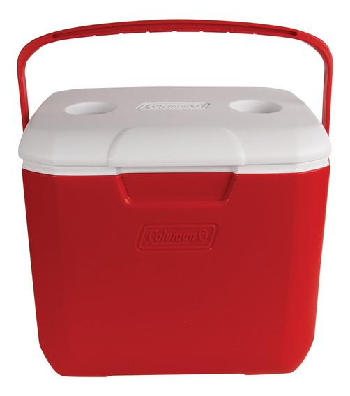 Cooler Coleman 28l Rojo Con Posavasos De Camping Aislante