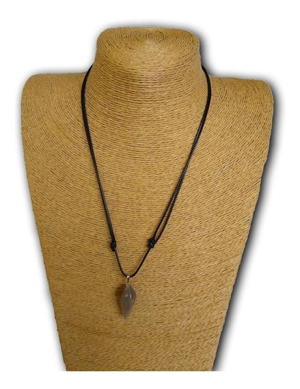 Colar De Pedra Natural Ágata Ref: 9223