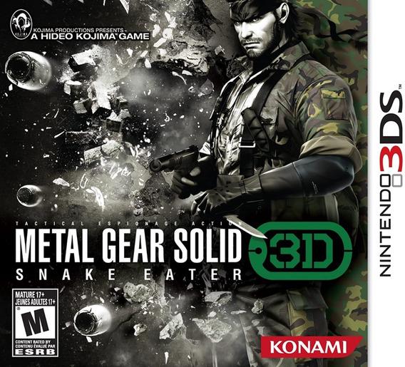Metal Gear Solid - Snake Eater 3d - Frete Grátis!