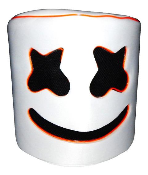 Mascara Casco Marshmello Dj Niños Luz Led Naranja Envio Grat