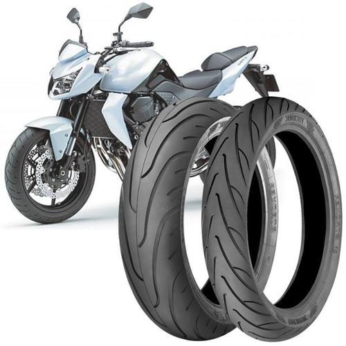 Imagem 1 de 3 de 2 Pneu Moto Kawasaki Z750 180/55-17 73v 120/70-17 58v
