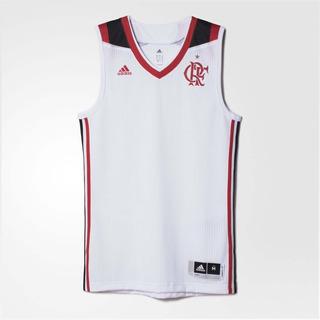 Camisa Basquete Flamengo adidas Regata Branca 2017