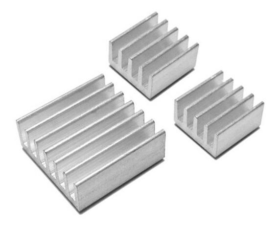 Kit 03 Pçs Dissipador De Calor Raspberrypi C/ Adesivo*111010