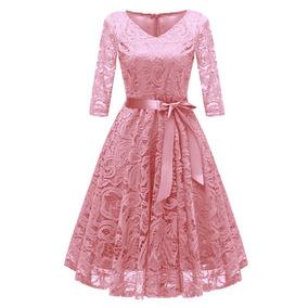 b9d054c9a3 Vendimia Mujeres 1950 Croché Encaje Plisado Vestido V Del C · 2 colores