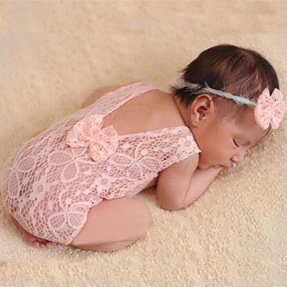 Kit 2 Body Bebê,babado, Laço, Newborn,fotografia Rn