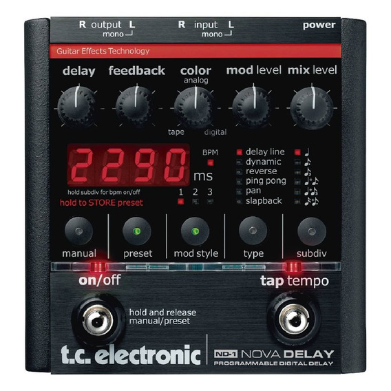 Pedal Nd-1 Nova Delay - Tc Electronic