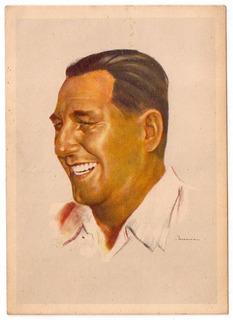 Peronismo Tarjeta Ilustrada De Juan Domingo Peron