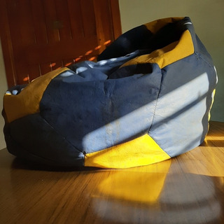 Puff Fiaca Pelota Boca Juniors Futbol Azul/amarillo