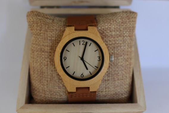 Relógio Feminin Bambu Madeira Anal. Bobo Bird A44 Fr. Grátis