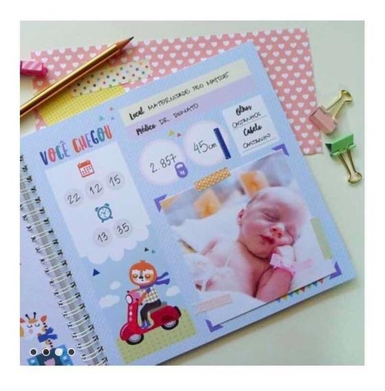 Livro Diário Do Bebê Álbum Presente Recordação