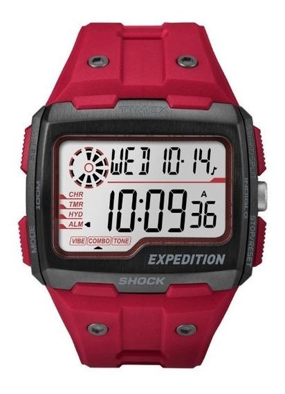 Relógio Timex Expedition Vermelho - Raríssimo