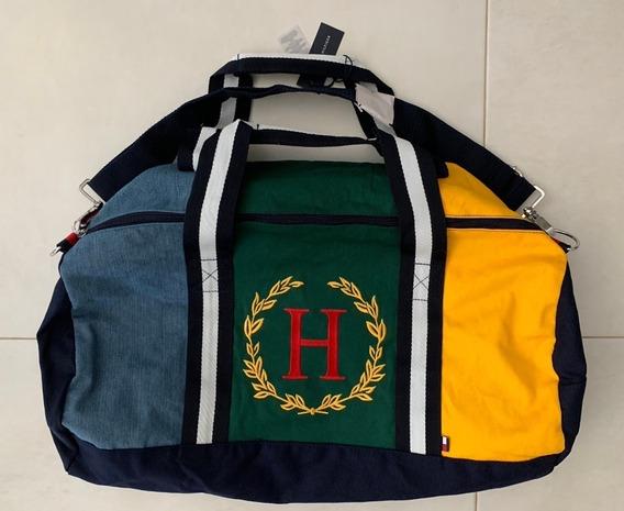 Tommy Hilfiger Duffle Bag Grande Viagem Bolsa Importada Lona