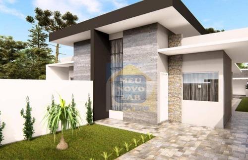 Casa Com 3 Dormitórios À Venda, 90 M² Por R$ 310.000,00 - Nações - Fazenda Rio Grande/pr - Ca0382