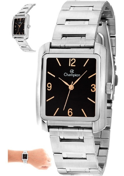 Relógio Feminino Champion Quadrado Prateado Ch22466t