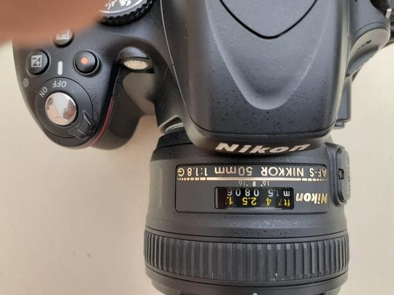 Camera Nikon D5100 + Lente 50 Mm+ Flash Yongnuo + Acessórios