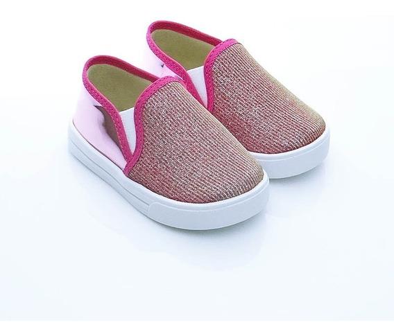 Alpargata Sapatênis Iate Infantil Lonita Pink Confortável