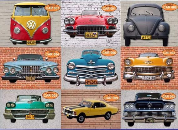 Carros Antigos Recortados Em Mdf Decoração Retro Fusca Kombi